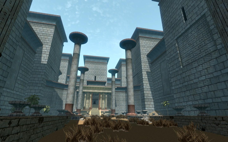 Viele alte Tempel sind in der Wüste versteckt, die ganz anders sind als die Nordgräber (Quelle: Skyrim Nexus)