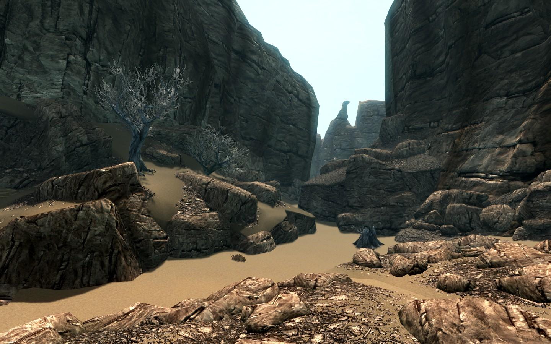 Hammerfells Landschaft ist immerhin wärmer (Quelle: Skyrim Nexus)